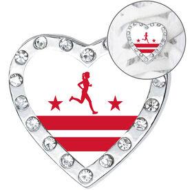 Running Shoelace Charm - Washington D.C. Runner Girl