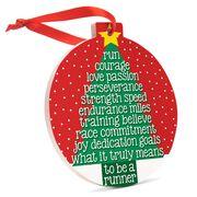Running Round Ceramic Ornament - Runner Christmas Tree