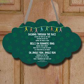 Jingle Run Decorative Cloud Sign