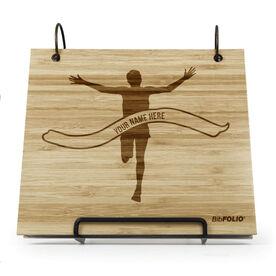 Engraved Bamboo Wood BibFOLIO® Race Bib Album - Pride Is Forever Male