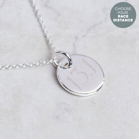 Sterling Silver 14mm Custom Distance Circle Necklace
