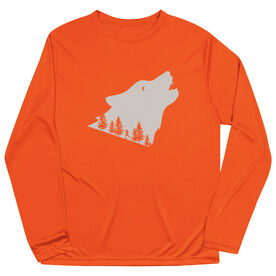 Men's Running Long Sleeve Tech Tee - Run Wild Wolf