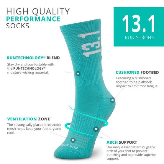 Socrates® Mid-Calf Performance Socks - Half Marathon