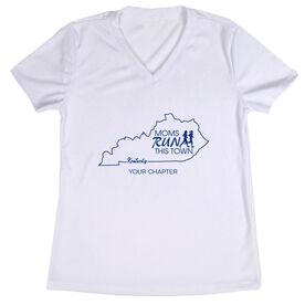 Women's Running Short Sleeve Tech Tee - Moms Run This Town Kentucky Runner