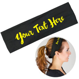 RunTechnology Tempo Performance Headband -Your Custom Quote