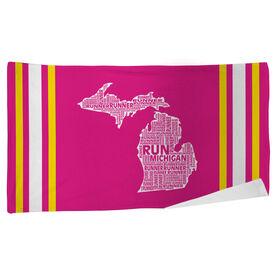 Running Beach Towel Michigan State Runner