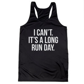 Women's Racerback Performance Tank Top - Long Run Day