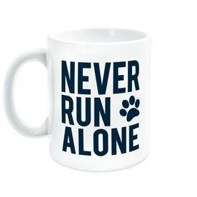 Running Coffee Mug - Never Run Alone (Bold)