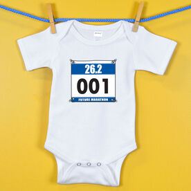 Baby One-Piece Future Marathoner Race Bib