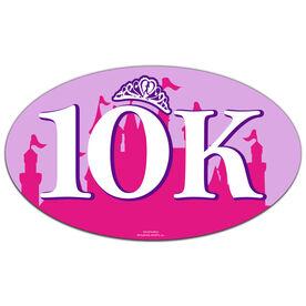 10K (Pink Castle) Oval Car Magnet
