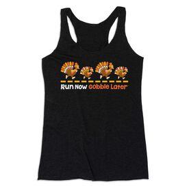Women's Everyday Tank Top -  Run Now Gobble Later Turkeys
