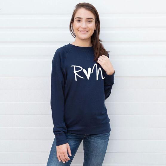 Running Raglan Crew Neck Sweatshirt - Run Heart