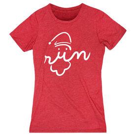 Women's Everyday Runners Tee - Santa Run Face