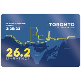 "Running 18"" X 12"" Wall Art - Toronto 26.2 Route"