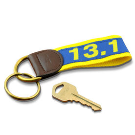 13.1 Half Marathon Runners Key Fob (Blue/Yellow)
