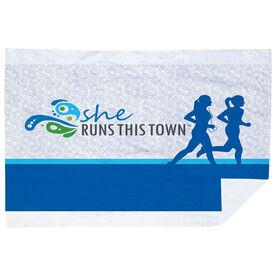 Running Premium Blanket - She Runs This Town