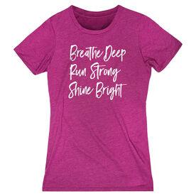 Running Women's Everyday Tee - Breathe Deep Run Strong