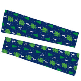 Running Printed Arm Sleeves - Run Through The Trees