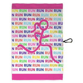 Running Workout/Golf Towel Run Run Run Figure Girl