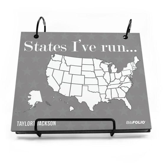 Run Usa Map.Bibfolio Race Bib Album Running The Usa Map Dry Erase