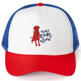 Running Trucker Hat Never Run Alone