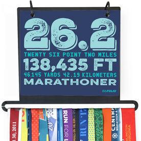 BibFOLIO Plus Race Bib and Medal Display - 26.2 Math Miles
