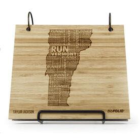 Engraved Bamboo Wood BibFOLIO Vermont State Runner
