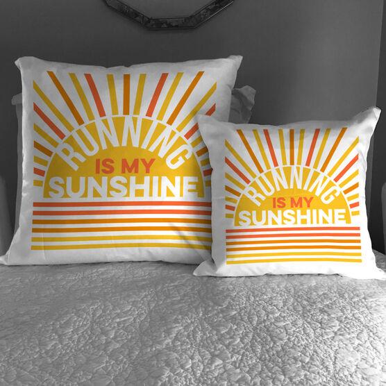 Running Decorative Pillow - Running Is My Sunshine