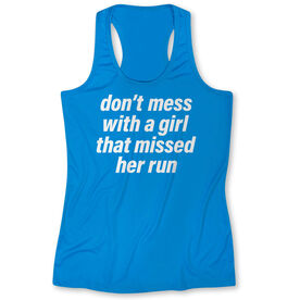 Women's Performance Tank Top - Don't Mess With A Girl
