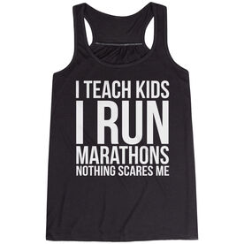 Flowy Racerback Tank Top - I Teach Kids I Run Marathons