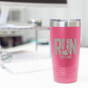 Running 20 oz Double Insluated Tumbler - Let's Run Like A Girl