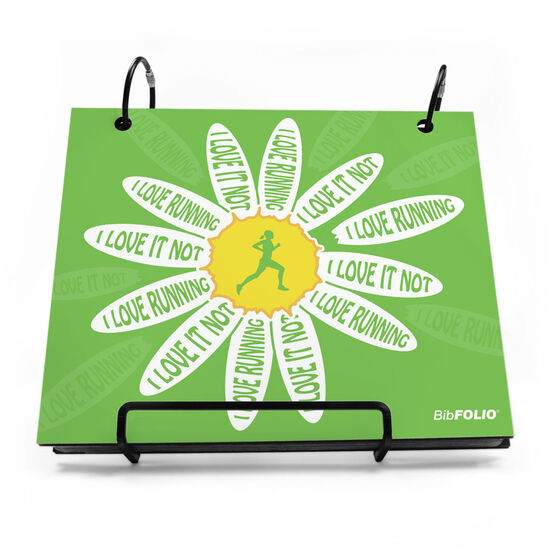 BibFOLIO® Race Bib Album - I Love Running, I Love It Not