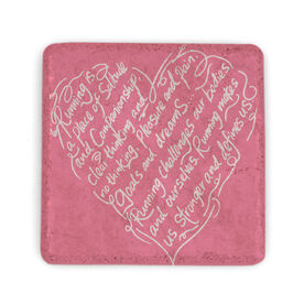 Running Stone Coaster - Running Heart Inspiration