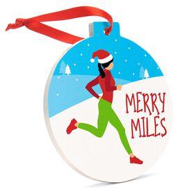 Running Round Ceramic Ornament - Merry Miles Female