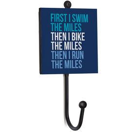 Triathlon Medal Hook - Swim Bike Run The Miles