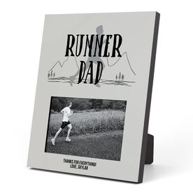 Running Photo Frame - Runner Dad With Silhouette