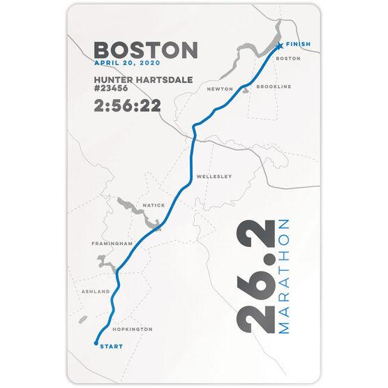 """Running 18"""" X 12"""" Wall Art - Personalized Boston Map"""
