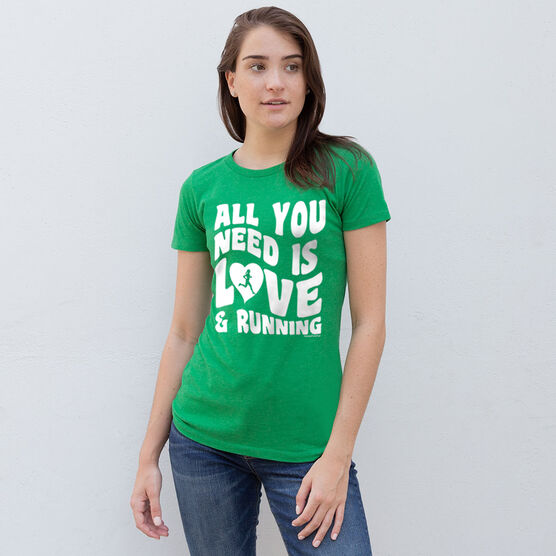 Women's Everyday Runners Tee All You Need Is Love And Running