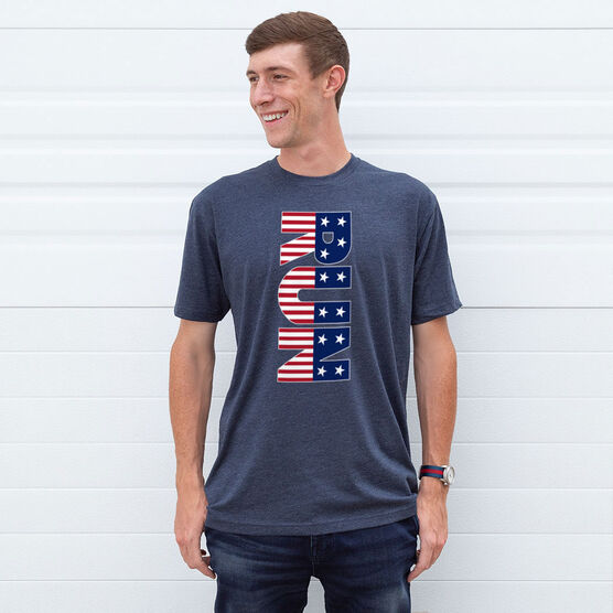 Running Short Sleeve T-Shirt - Patriotic Run