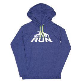 Men's Running Lightweight Hoodie - Gone For a Run White Logo