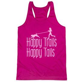 Women's Racerback Performance Tank Top - Happy Trails Happy Tails
