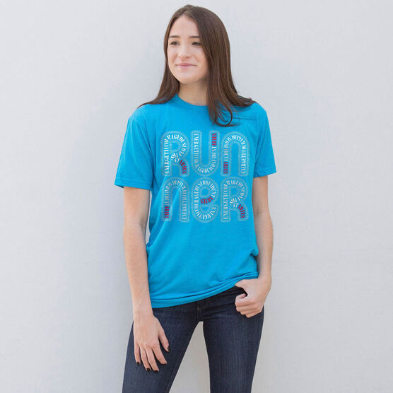 Running Short Sleeve T-Shirt - Aries Zodiac Runner