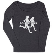 Women's Runner Scoop Neck Long Sleeve Tee - Sole Sister Silhouettes