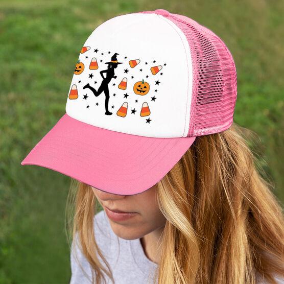 Running Trucker Hat - Candy Corn Female Runner