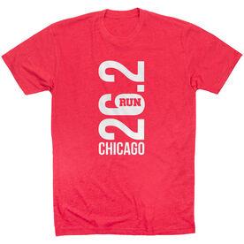 Running Short Sleeve T-Shirt - Chicago 26.2 Vertical