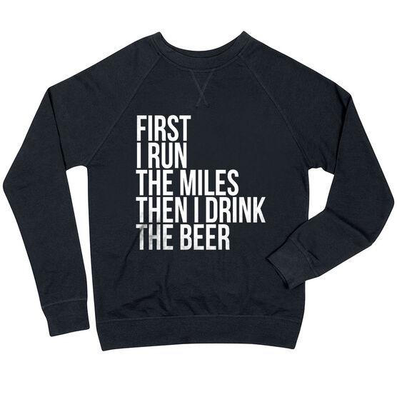 Running Raglan Crew Neck Sweatshirt - Then I Drink The Beer