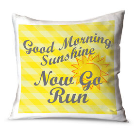 Running Throw Pillow Good Morning Sunshine