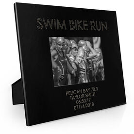 Triathlon Engraved Picture Frame - Swim Bike Run