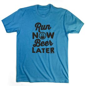 Running Short Sleeve T-Shirt - Run Club Run Now Beer Later
