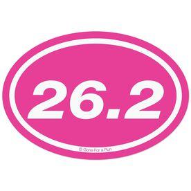 26.2 Marathon Decal (Pink)